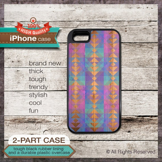 iPhone 6, 6+, 5 5S, 5C, 4 4S, Samsung Galaxy S3, S4 - Triangles Pattern - Design Cover 36