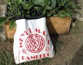 Reusable tote bag made from an upcycled Weyermann malt sack