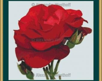 """Cross stitch chart """"Rose"""""""