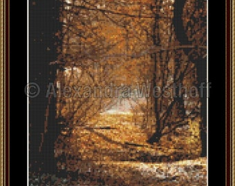 "Cross stitch chart ""Herbstweg"""