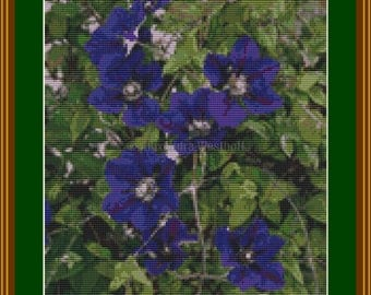 "Cross stitch chart ""Clematis 1"""