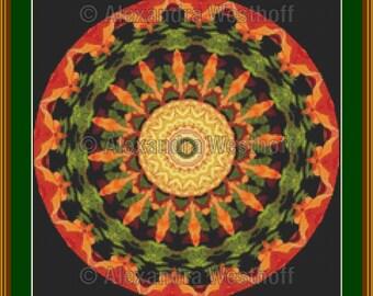 """cross stitch chart """"Kaleidoskop 3a"""""""