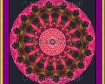 """Cross stitch chart """"Kaleidoskop 3d"""""""