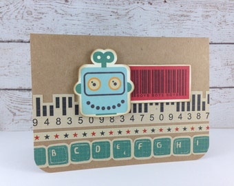 Retro Robot Card