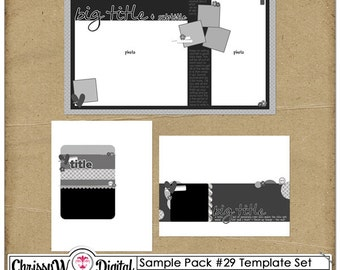 Sample Pack 29 - 8.5x11 Digital Scrapbooking Templates