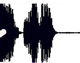Baby's Heartbeat Soundwave Onesie