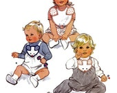 Vintage Butterick 4631 Infant Overall Dungarees Bib and Bloomer 1970s