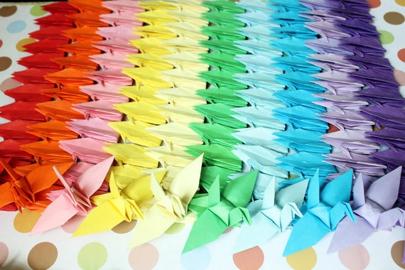 Valentine 1000 paper cranes crafts customized for wedding for 1000 paper cranes wedding decoration