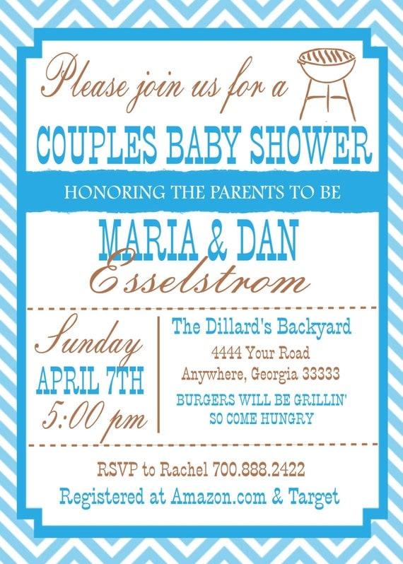 couple baby shower invitation by justforyouinvites on etsy