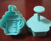Milk Bottle Style Cookie Cutter 3D Cartoon Cookie Mold Cake Mold Plastic Baking Mold Animal Cookie Cutters