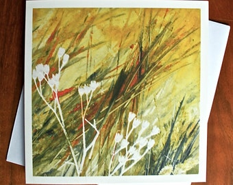 Breeze VI - Blank Greeting Card from an Original Monotype Print
