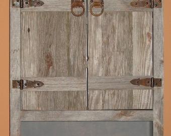 Gray barnwood vanity | Etsy
