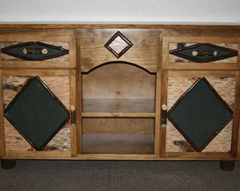 ADIRONDACK  STAND - Rustic Night Stand - Adirondack Furniture
