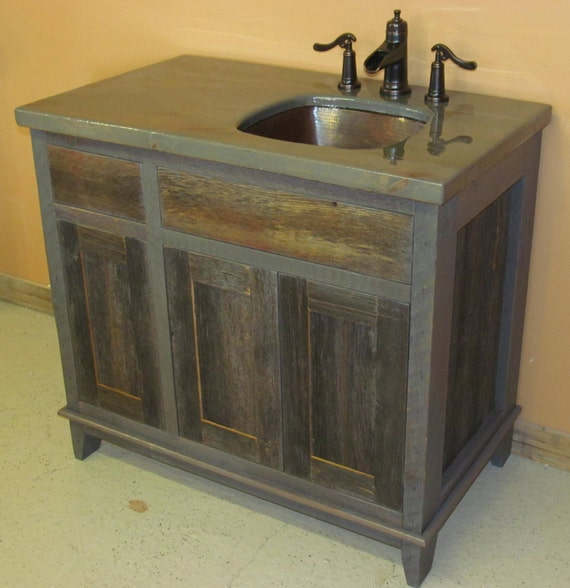 Antique Gray Weathered Bath Vanity