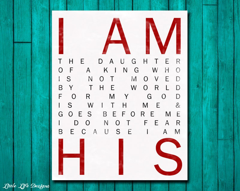 I Am His. Christian Wall Art. Nursery Wall By