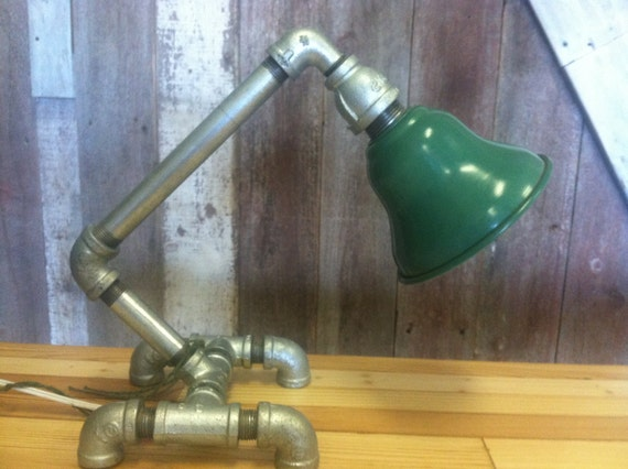 Items similar to upcycled industrial steampunk gas pipe for Gas pipe lamp