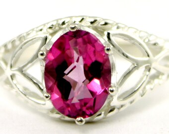 Pure Pink Topaz, 925 Sterling Silver Ring, SR137