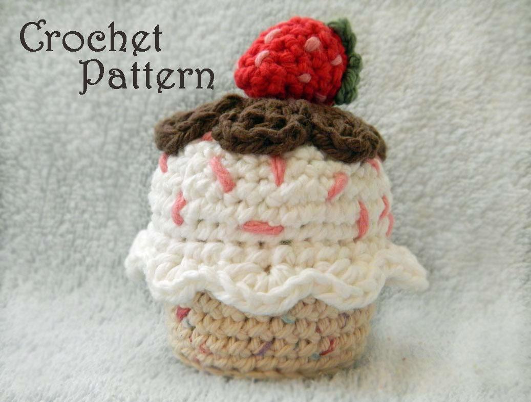 Crochet Pattern for Amigurumi Food: by HerterCrochetDesigns