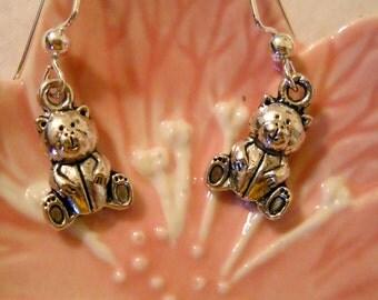 Tibetan Teddy Bear Dangle Earrings