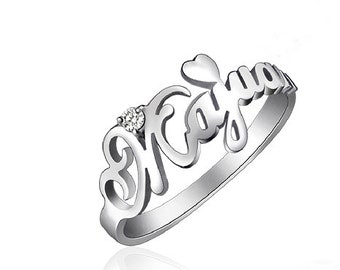 Name ring Sterling Silver Personalized ring with Name of Your Choice