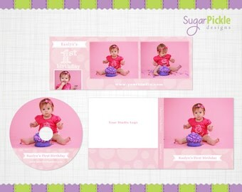 Cake Smash template, Cake Smash Session set, Girl CD Case template, Marketing Set, Facebook cover, CD/DVD Label