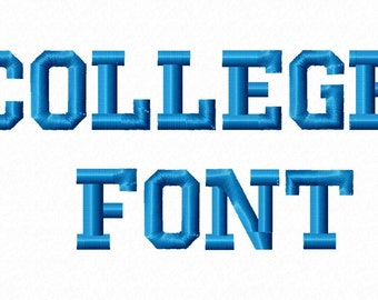College Font Machine Embroidery Fonts 1099