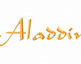 Aladdin Machine Embroidery Fonts 1107