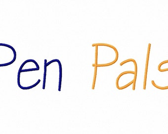 Pen Pals Machine Embroidery Fonts 1169