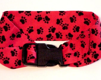 Pet Neck Cooler Bandana Dog Cooling Collar Fabric Heat Relief Stay Cool Neck Wrap Collar Buckle Size Small 10 to 14 inch Red iycbrand