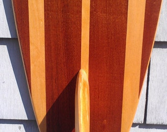 Surfboard Wall Hanging Art -  Vintage Surfing Decor - Old School Hawaiian Surf Design