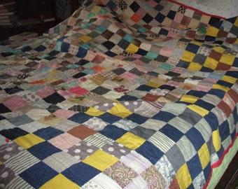 HALF PRICE SALE!!! Vintage Patchwork Quilt