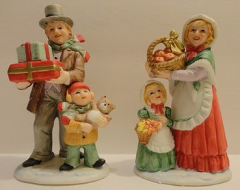 Homco Christmas Figurines ~ FREE Domestic Shipping