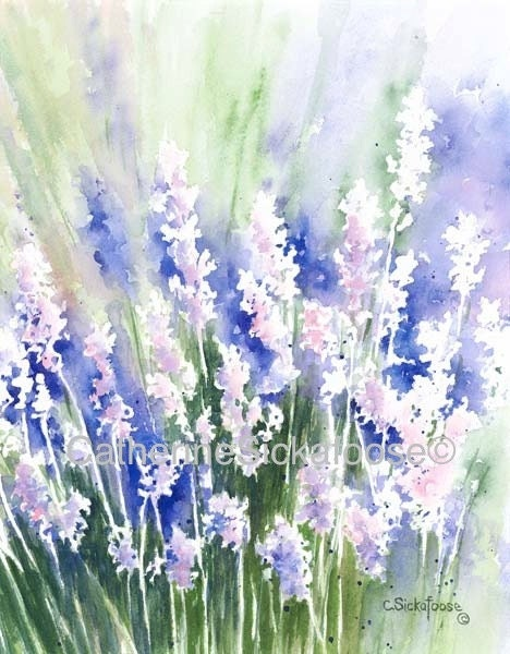 lavender painting - photo #33