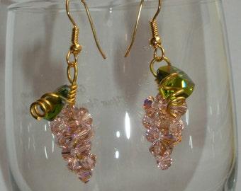 Swarovsk Grape Cluster Earrings
