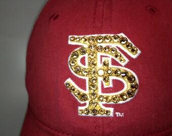 Swarovski crystal bling Florida State Seminoles adjustable hat