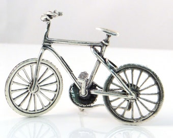 Vintage Sterling Silver Miniature Bicycle (Style B)