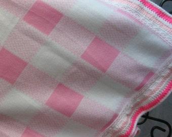 Pink Plaid Fleece Blanket