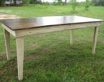 Primitive Style Farm Table