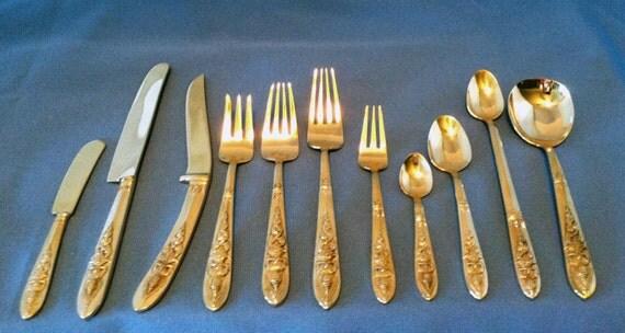 Polished 144 pc vintage thai siam flatware cutlery - Thailand silverware ...