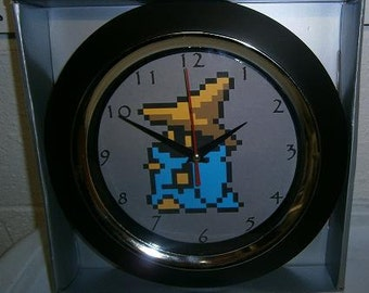 Custom-made Classic Final Fantasy Black Mage videogame wall clock