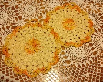 SUNSHINE Crocheted Pot Holders
