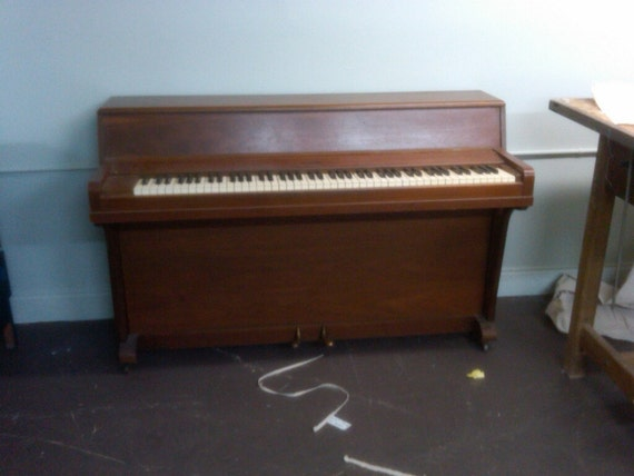 Items similar to vintage melodi grand upright piano rare for Small upright piano dimensions