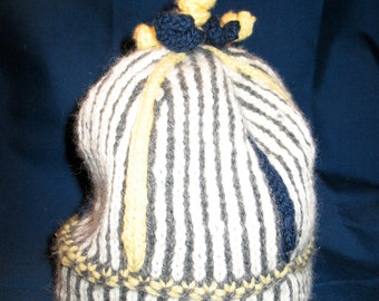 Striped Curlycue Hat