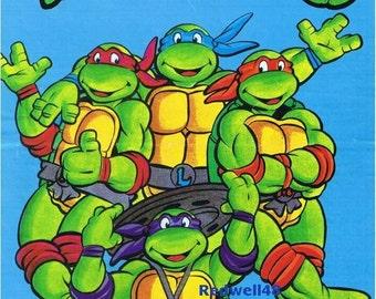 Teenage Muntant Ninja Turtles Intarsia Knitting Pattern