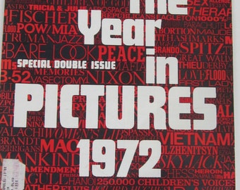LIFE December 29,1972  Magazine-The Year in Photos 1972 Iconic Photos-Collectible Book