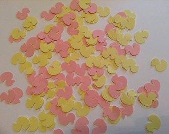 400 count Pink and Yellow Baby Duck Confetti