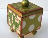 Shabby Shades of Green Art Box With Lid