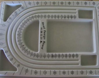 "Gray Beading Tray, Plastic Necklace Tray, approx 9"" x12"" grey flocked plastic beading board"