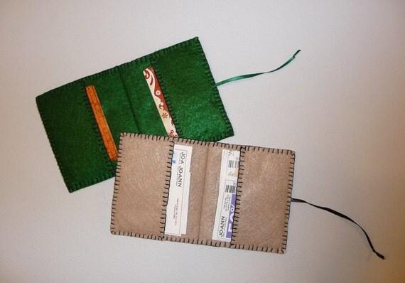 PDF Pattern for Felt Gift Card Holder, Credit Card Holder ...