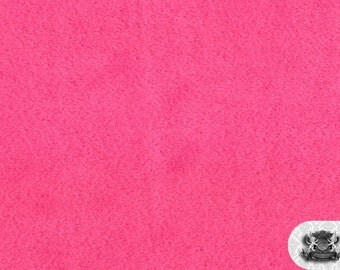 """Minky SOLID Hot Pink Fabric / 58"""" Wide / Sold by the Yard"""